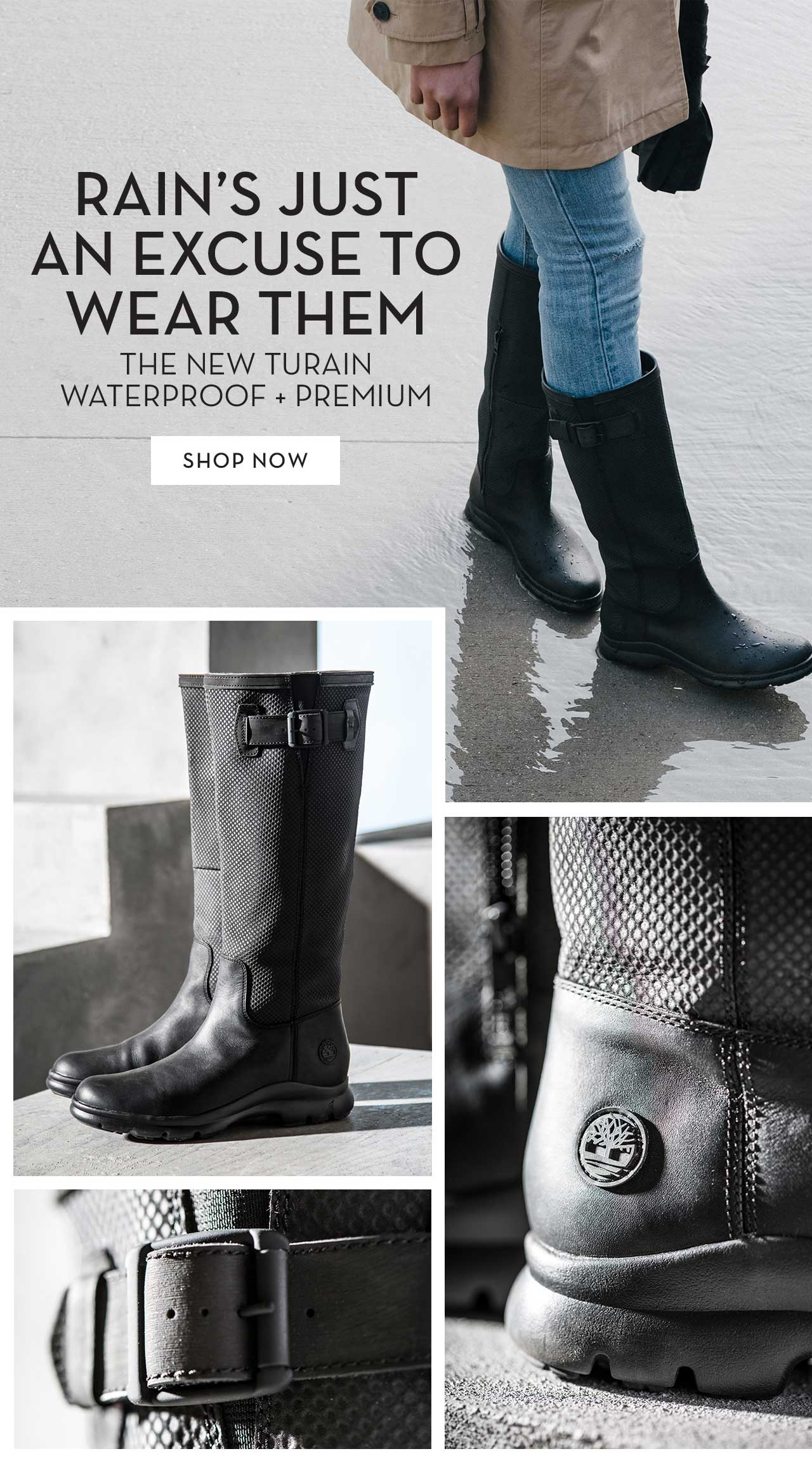 Rain's Just An Excuse To Wear Them The New Turain Waterproof + Premium Shop Now