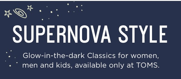 Glow-in-the-dark Classics for women, men and kids