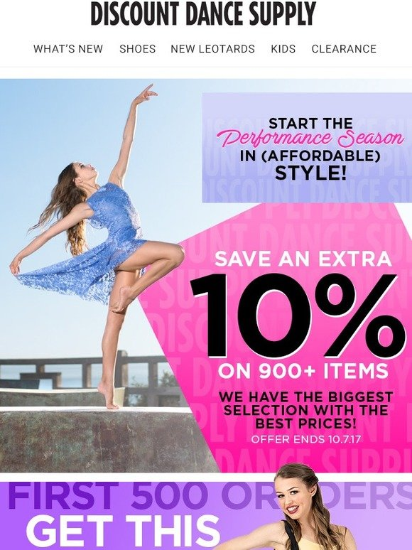 Discount Dance: Dance Costume Sale Plus Get a Free Tote