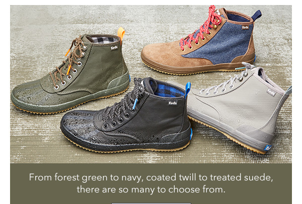 From forest green to navy, there are so many to choose from.