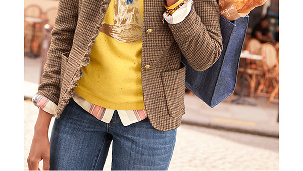 When layering, let your shirt show! Don't hide it.