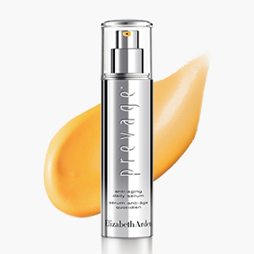 TARGET & SUPPORT Support, restore and repair skin daily with PREVAGE® Serum. POWER SERUM
