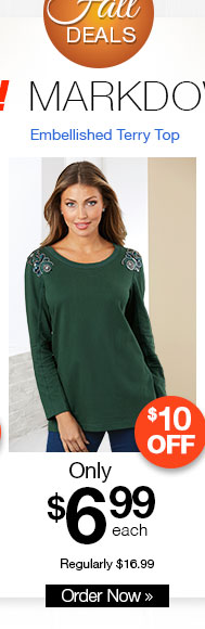 Embellished French Terry Top