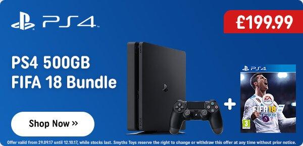 Playstation 4 500GB FIFA 18 Bundle