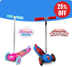 Spider-Man/ Shimmer & Shine Move N Groove Scooters