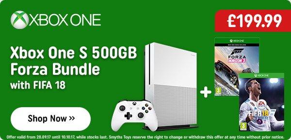 Xbox One S 500GB Forza Horizon Bundle & FIFA 18