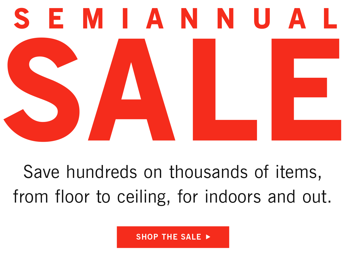 Shop the Semiannual Sale!