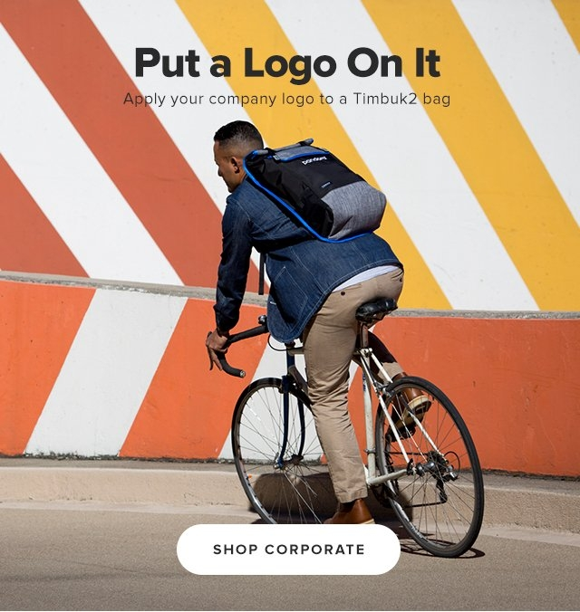 Put a Logo On It | Apply your company logo to a Timbuk2 bag | Shop Corporate