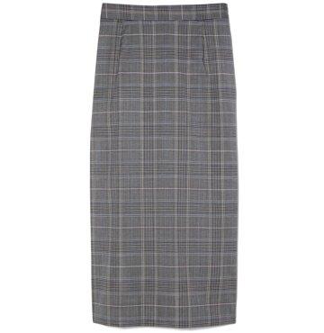 goop Label Michelle Plaid Pencil Skirt $325