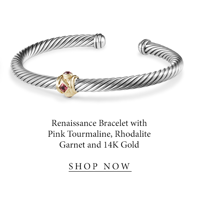 Renaissance Bracelet with Pink Tourmaline