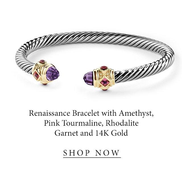 Renaissance Bracelet with Amethyst