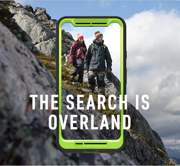 the search is overland