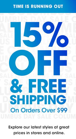 15% OFF & Free shipping On Orders Over $99