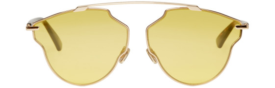 Dior - Rose Gold And Yellow So Real Pop Sunglasses
