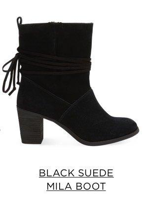 Black Suede Mila Boot