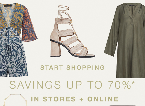 SAVINGS UP TO 70%* >