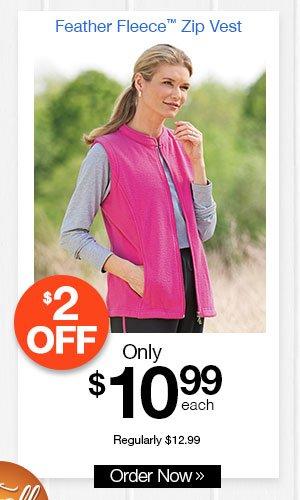 Feather Fleece? Zip Vest