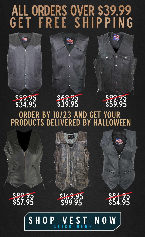 Shop Leather Vest