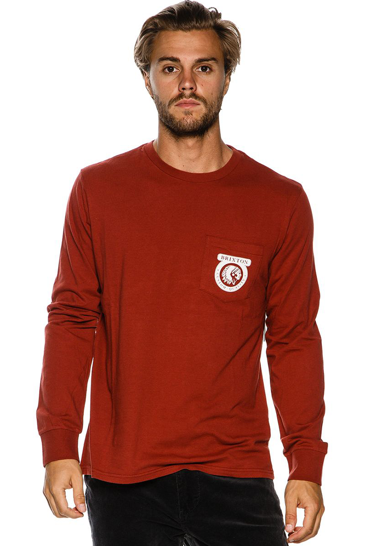 BRIXTON NATIVE LS POCKET TEE