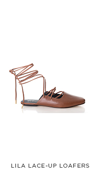 Lila Lace-Up Loafers