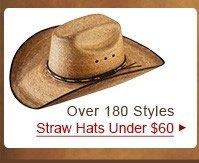 Straw Hats Under 60