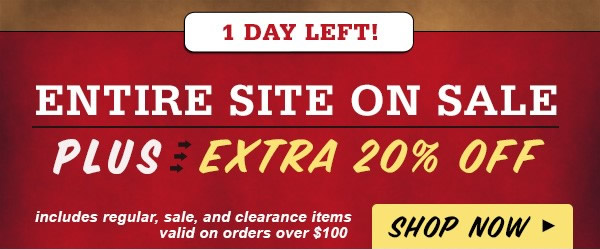 Extra 20 off Coupon and Entire Site