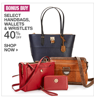 Shop 40% Off Select Handbags, Wallets & Wristlets