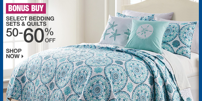 Shop 50-60% Off Select Bedding Sets & Quilts