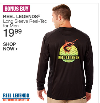 Shop 19.99 Reel Legends Long Sleeve Reel-Tec