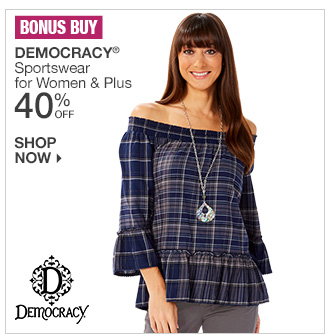 Shop 40% Off Democracy Sportswear