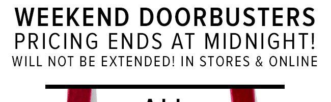 Final Hours Doorbusters