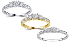 1/4 CTTW or 1/2 CTTW Diamond Ring in 10K Solid Gold