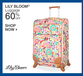 Shop 60% Off Lily Bloom Luggage