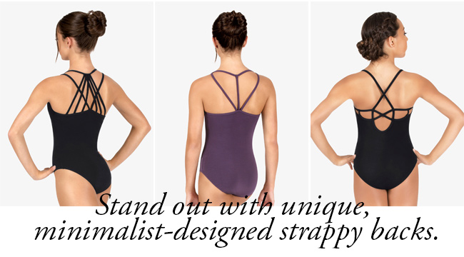 Stand out with unique, minimalist-designed strappy backs.