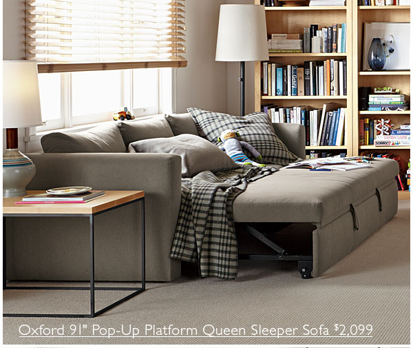 Oxford pop-up platform sleeper sofa