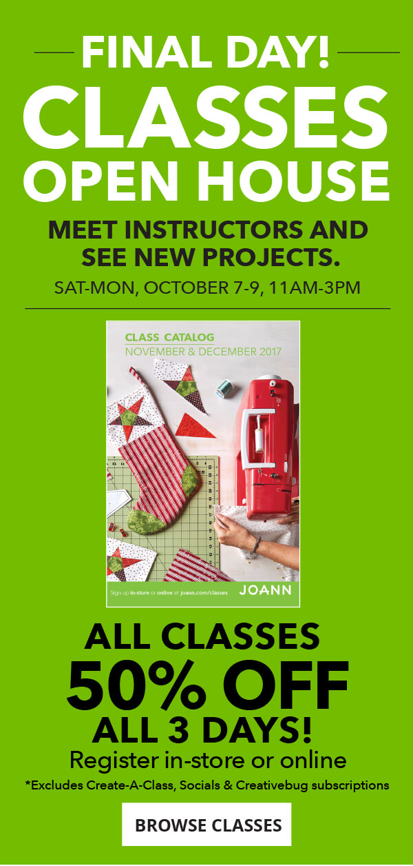 Saturday-Monday, October 7-9. Classes Open House. BROWSE CLASSES.