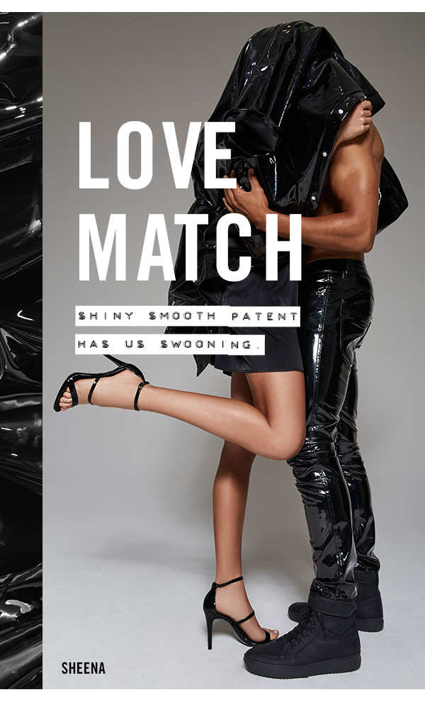 LOVE MATCH: Shiny, smooth patent has a swooning