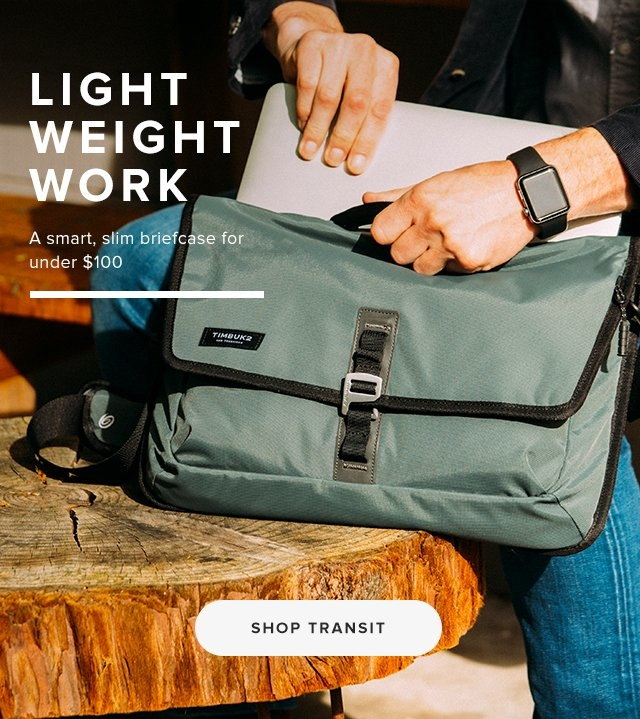 Light Weight Work | A smart, slim briefcase for under $100 | Shop Transit