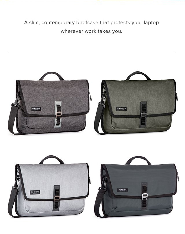 A slim, contemporary briefcase that protects your laptop wherver work takes you.