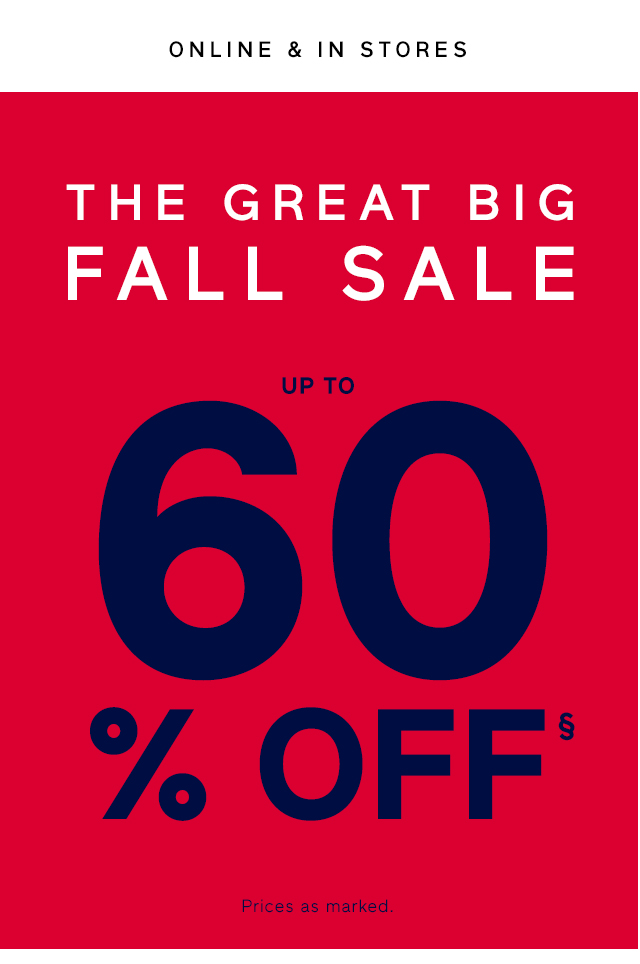 UP TO 60% OFF§