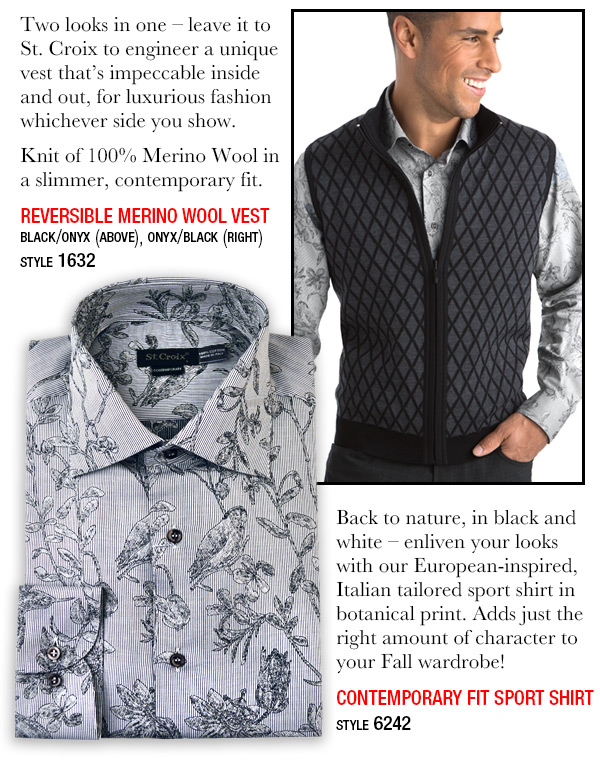 Reversible Merino Wool Vest - Style 1632