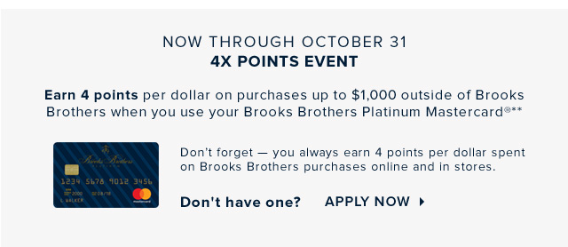 BROOKS BROTHERS PLATINUM MASTERCARD® | APPLY NOW
