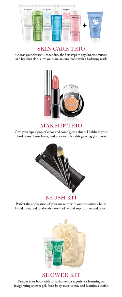 SKIN CARE TRIO | MAKEUP TRIO | BRUSH KIT | SHOWER KIT