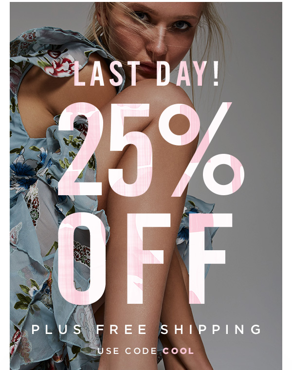 LAST DAY: 25% OFF PLUS FREE SHIPPING! USE CODE COOL AT CHECKOUT.