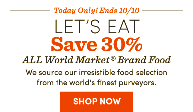 Today Only! Ends 10/10 Save 30% All WM Brand Food. Shop Now ›