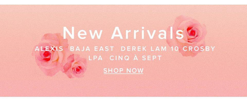 New Arrivals. Alexis, Baja East, Derek Lam 10 Crosby, LPA, Cinq à Sept. Shop now.