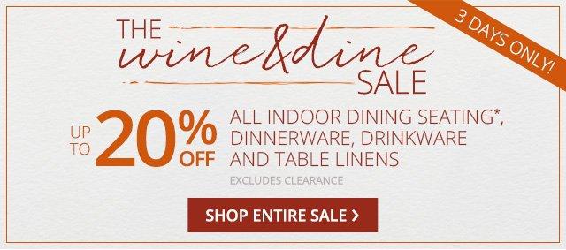 The Wine & Dine sale. Shop entire sale.