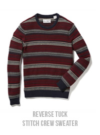 REVERSE TUCK STITCH CREW SWEATER