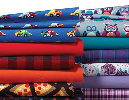 Cozy Flannel Solids and Snuggle Flannel Print.