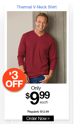 Thermal V-Neck Shirt